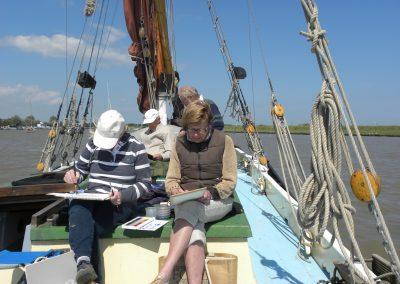 Art on-board a sailing barge