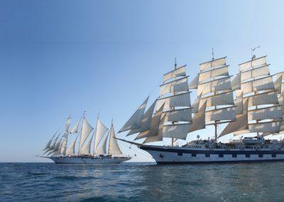 Modern sailing ships
